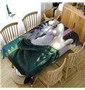 Pollyester Home Use Waterproof Oilproof 3D Tablecloth