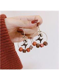 Christmas Fawn Tassel Easy Matching Earrings