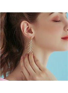 Beautiful Long Tassel Christmas Tree Earrings