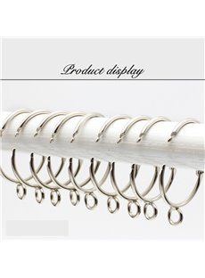 5 Rings Easy Open and Close Silver Color Curtain Eyelet Rings