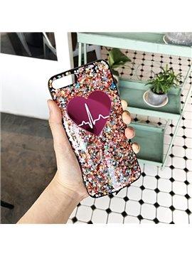 ECG Soft Multi-color Sequin Phone Case