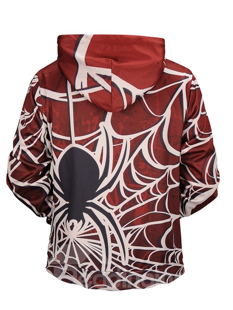 Spider Casual Style Polyester Athletic Vivid Color 3D Painted Hoodie
