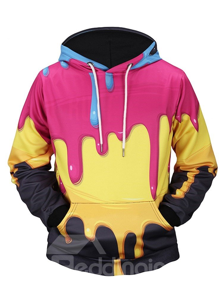 Cool Design Funny Pattern Lightweight Pullover 3D Painted Hoodie