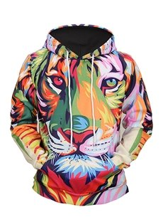 Loose Model Casual Style Polyester Fastness 3D Painted Hoodie