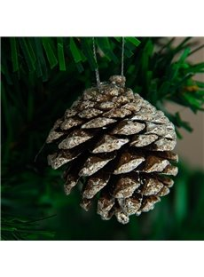 White Small Natural Pine Cones Christmas Decorations