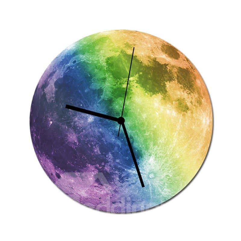 Luminous Moon Wall Clock Moon Fluorescent Clock