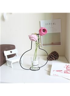 Simple and Creative Multi-shape Wire Vase Frame