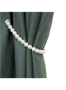 Pearl Curtain Tieback, Magnetic Clips Holdback Buckle Tiebacks 1 Pair