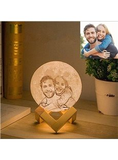 Personalized Photo Night Light Customized 3D Printing Moon Night Lamp