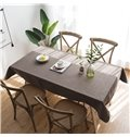Plain Simple Style Home Use Rectangle Waterproof Tablecloth