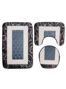 3D Classical Pattern Embossing 3-Piece Toilet Seat Cover