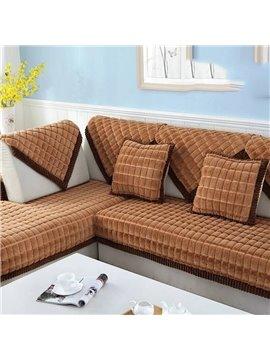 Plush Simple Style Anti-Slip Fastness Sofa Covers