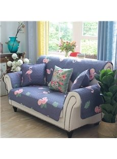 Flamingo Polyester All Seasons Anti-Slip Sofa Cover