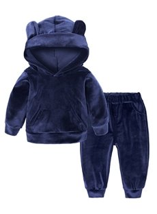 2 Pieces Pleuche Material Blue Baby Costume