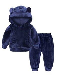 2 Pieces Pleuche Material Blue Baby Costume
