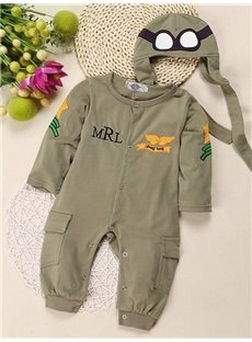 2 Pieces Cotton Material Pilot Sculpt Baby Costume