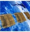 Dolphin European Style Hand Wash Rectangle Area Rug