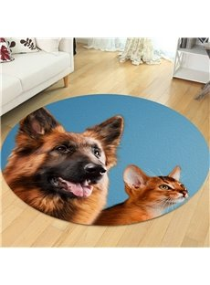 Big Dog Pattern Creative Environmental Friendly Waterproof Floor Sticker