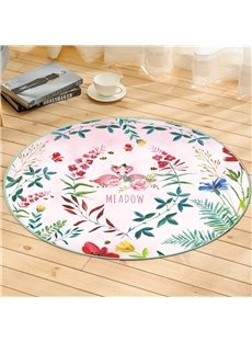 Flower Pattern Creative Environmental Friendly Waterproof Floor Sticker