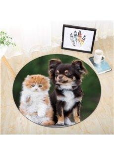 Cat And Dog Pattern Creative Environmental Friendly Waterproof Floor Sticker