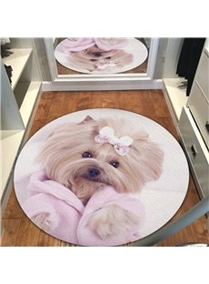 Creative Cute Dog Pattern Environmental Friendly Waterproof Floor Sticker
