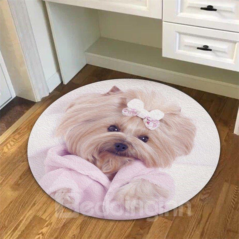 Creative Cute Dog Pattern Environmental Friendly Waterproof Floor Sticker