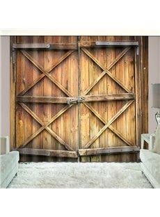 Locked Rusty Barn Door Country Style Vivid Blackout 2 Panels