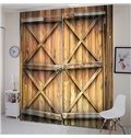 Locked Rusty Barn Door Country Style Vivid Blackout 2 Panels