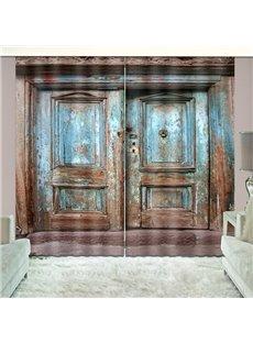 Rusty Barn Door Country Life Curtain Vivid Blackout 2 Panels