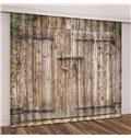 Old Wooden Barn Door of Farmhouse Blackout Vivid 3D Curtain