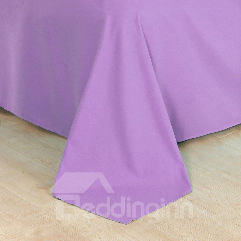 Purple Flower and Butterflies Printed 4-Piece 3D Bedding Sets/Duvet Covers