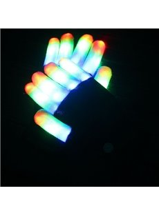 Led Colorful Luminous Performance Gloves New Exotic with Led Light Flash Gloves