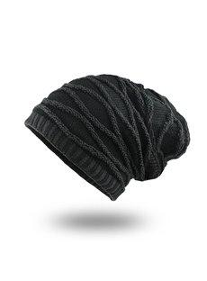 Winter Plus Velvet Warm Rhombus Head Men's Outdoor Hat