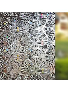 No Glue 3D Static Decorative Privacy Window Films for Glass