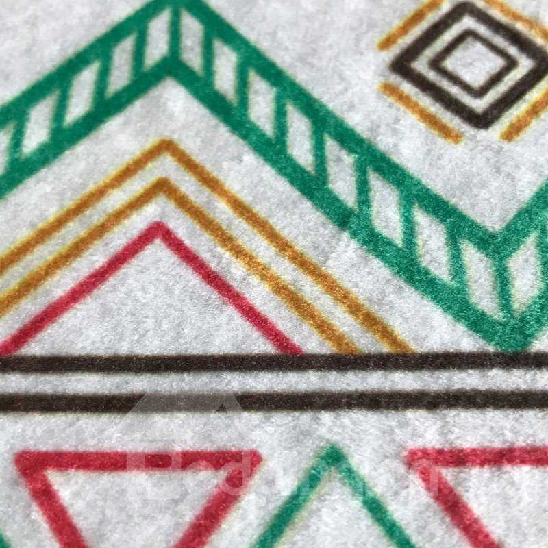 Creative Pattern Rectangle Waterproof Hand Wash Area Rug