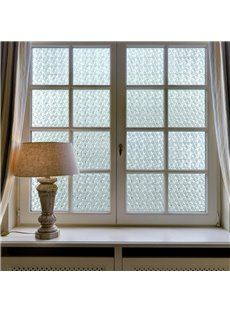 Static Window Films Geometric Plaid Non-Adhesive Decorative Film