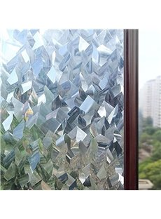 3D Crystal Icicles Effect No Glue Static Cling Privacy Glass Window Films