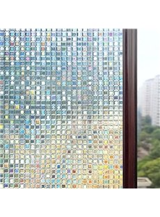3D Window Films Laser Colour Static Non-Adhesive Decorative Film