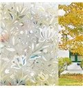 3D Floral Static Decorative Privacy No Glue Window Films for Glass