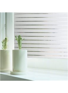 Stripe Pattern Window Films Static Non-Adhesive Decorative Film