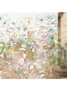 3D Laser Static Decorative Privacy Window Films No Glue for Glass Anti Uv