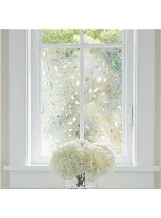 3D Laser Static Privacy Window Films No Glue for Decorative Glass Anti Uv
