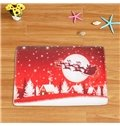Christmas Home Decor Polyester Waterproof Area Rug