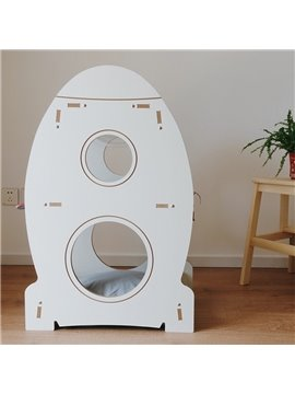 Three-layer Rocket Transparent Space Capsule Removable and Washable Cattery
