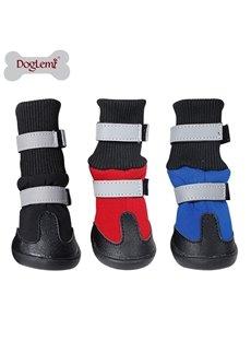 Pet Autumn and Winter Luminous Warm Long Boots