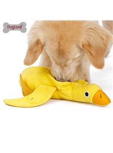 Duck Doll Sounding Plush Toy Training Play Sniffing Pet Supplies