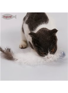 Christmas Crystal Ball Feather Bell Cat Ball Pet Toy