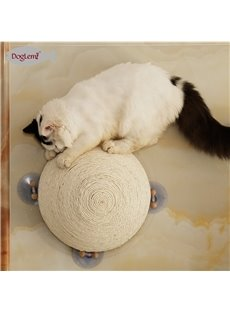 Semicircular Sisal Ball with Sucking Disc Toy Cat Scratch Board