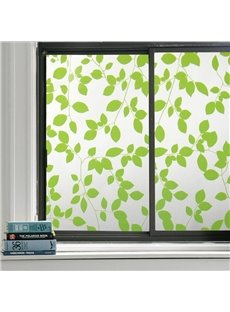 Green Leaves Window Film Static Sticker No-glue