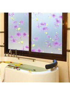 Little Purple Flower Window Film Static Sticker No-glue